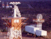 The VERLORT radar reinstalled at Carnarvon just beside the AcqAid antennas:Photo - Alan Gilham